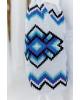 Купити вишиту сукню  Христина (біла з синім) в Україні від виробника Галичанка фото 3