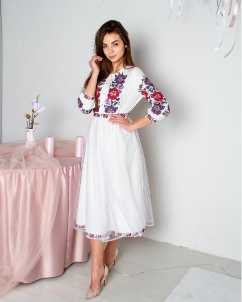 Купити вишиту сукню Ярославна (біле) в Україні від виробника Галичанка фото 1