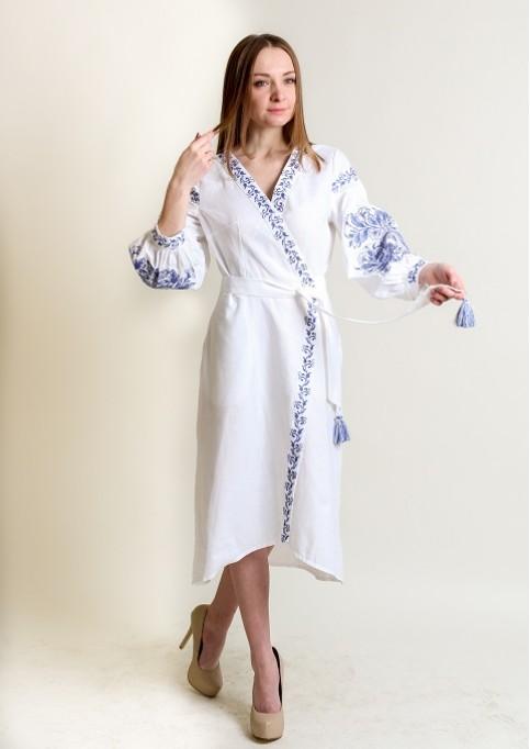 Купити вишиту сукню Ява (біла) в Україні від виробника Галичанка фото 1