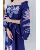 Купити вишиту сукню Княжна (синя) в Україні від виробника Галичанка фото 3