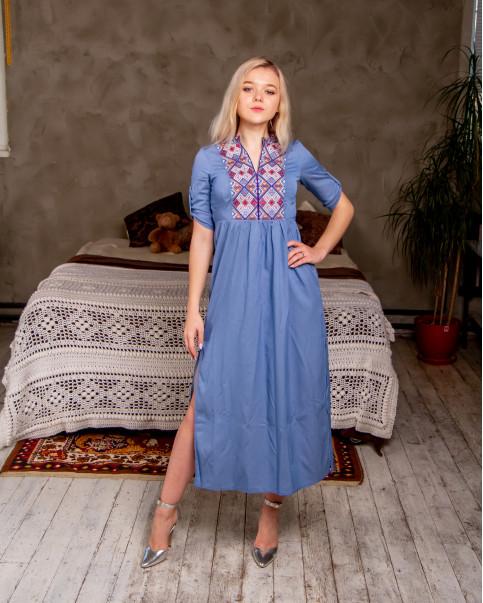 Монпасьє - жін.плаття  3/4 джинс Монпасьє Wdr-099 фото 1