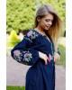 Купити вишиту сукню Паризька троянда (т. синя) в Україні від виробника Галичанка фото 2