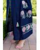 Купити вишиту сукню Паризька троянда (т. синя) в Україні від виробника Галичанка фото 3