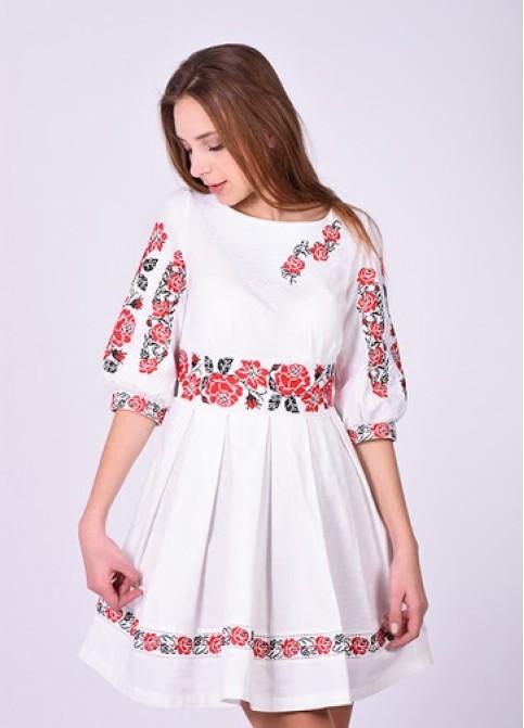 Купити вишиту сукню Пасія (льон) в Україні від виробника Галичанка фото 1