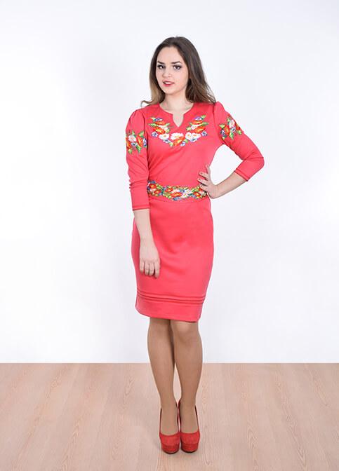 Купити вишиту сукню Подолянка (рожева) в Україні від виробника Галичанка фото 1