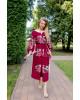 Купити вишиту сукню Роксолана (вишня-пудра) в Україні від виробника Галичанка фото 2