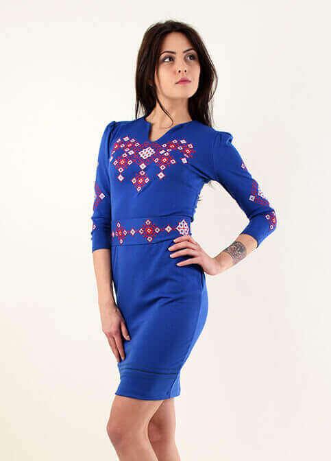 Купити вишиту сукню Слов'яночка (електрик) в Україні від виробника Галичанка фото 1