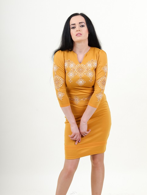 Купити вишиту сукню Слов'яночка (жовте) в Україні від виробника Галичанка фото 1