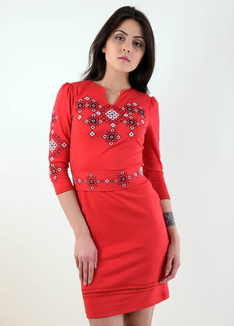 Купити вишиту сукню Слов'яночка (рожева) в Україні від виробника Галичанка фото 1