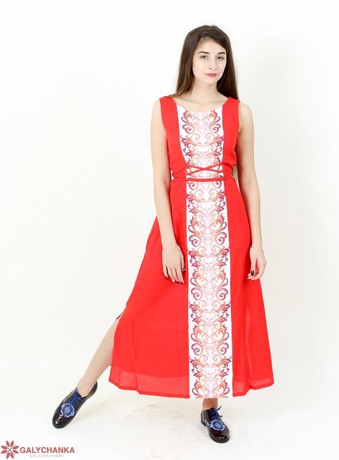 Купити вишиту сукню Сучасна тенденція (червоне) в Україні від виробника Галичанка фото 1