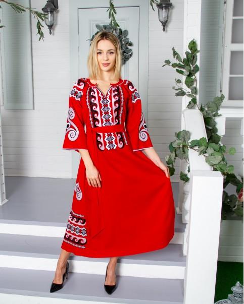 Купити вишиту сукню Трипілля (червоне) в Україні від виробника Галичанка фото 1