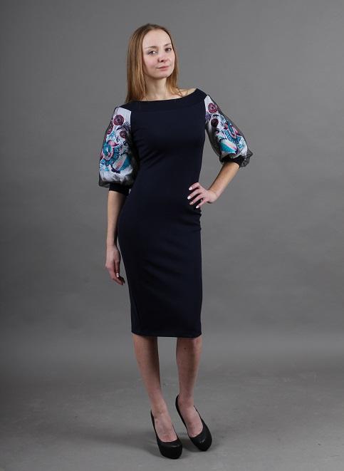 Купити вишиту сукню Віолетта (синя) в Україні від виробника Галичанка фото 1