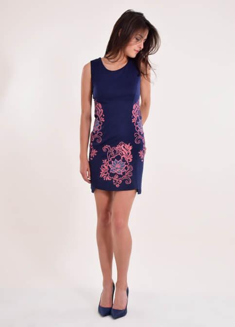 Купити вишиту сукню Віраж (синя) в Україні від виробника Галичанка фото 1