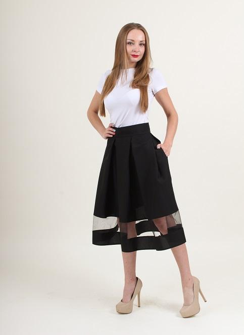 Купити спідницю з вишивкою Модель wsk-0104 (чорна) в Україні від Галичанка фото 1