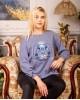 Купити жіночий світшот з вишивкою Байка (синій з синім) в Україні від Галичанка фото 1