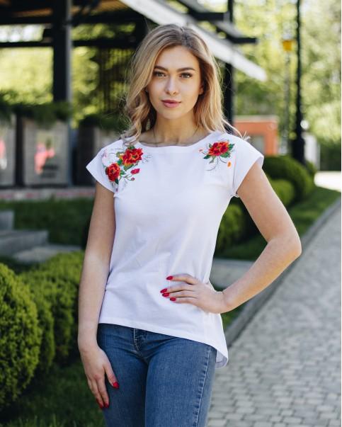 Купити жіночу туніку з вишивкою Феєрія (білий) в Україні від Галичанка фото 1