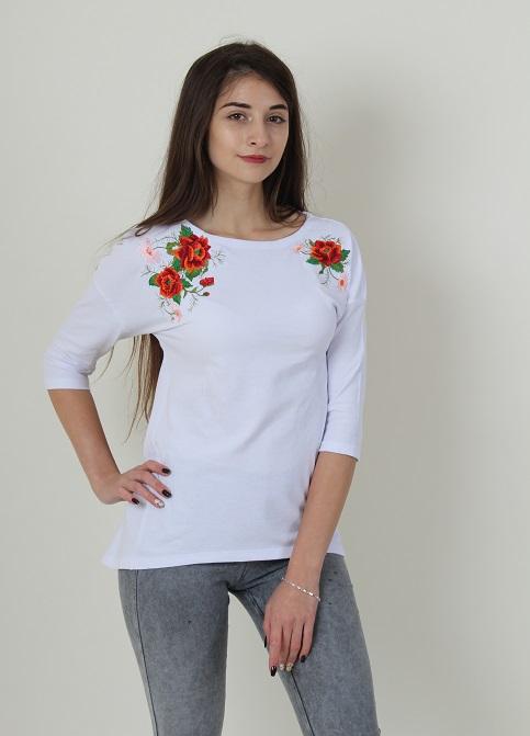 Купити жіночу туніку з вишивкою Феєрія плюс (білий) в Україні від Галичанка фото 1