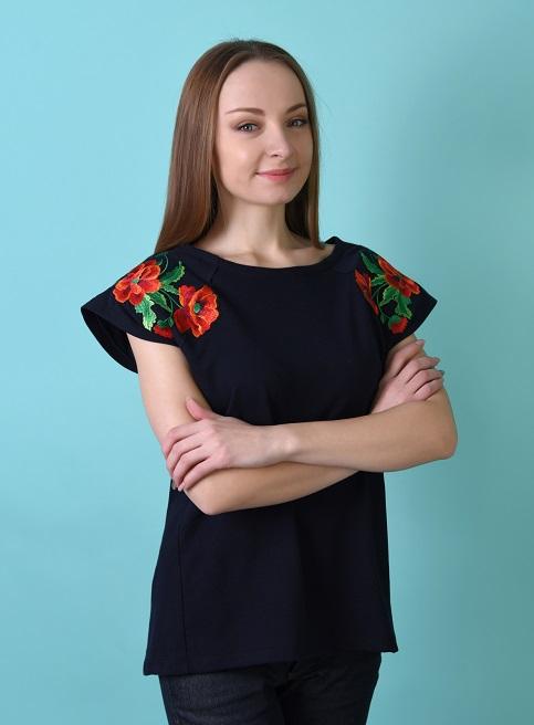 Купити жіночу туніку з вишивкою Квітковий мотив  в Україні від Галичанка фото 1