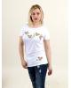 Купити жіночу туніку з вишивкою Сливовий цвіт (білий) в Україні від Галичанка фото 2