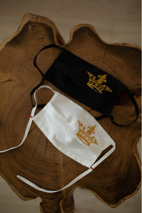 Купити захисну маску Корона (біла) в Україні від виробника Галичанка фото 1