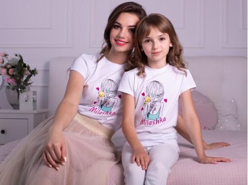 Дитяча футболка Casual Мілашка (біла) – купити в Україні від Галичанка фото 1