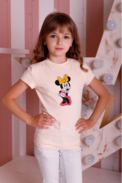 Дитяча футболка Casual Мікі (крем) – купити в Україні від Галичанка фото 1