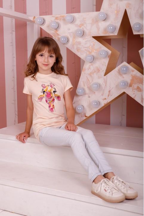 Дитяча футболка Casual Жирафа (крем) – купити в Україні від Галичанка фото 1