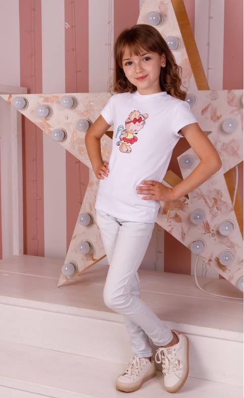 Дитяча футболка Casual Мімі Мішка (біла) – купити в Україні від Галичанка фото 1