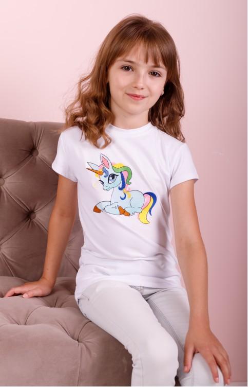 Дитяча футболка Casual PONI (біла) – купити в Україні від Галичанка фото 1