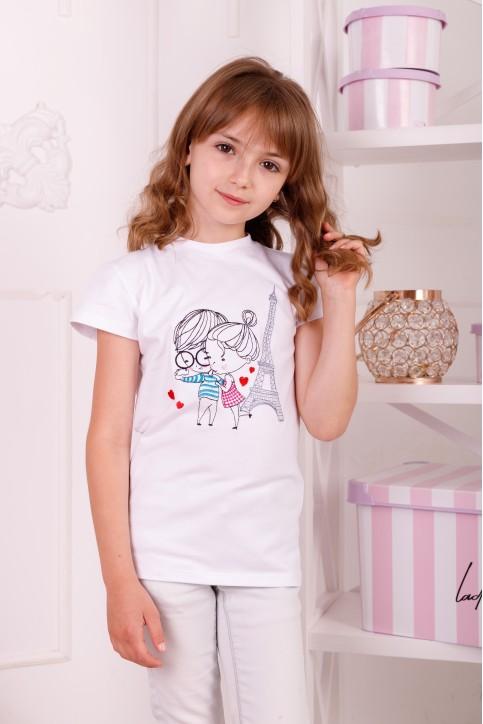 Дитяча футболка Casual Паризькі канікули (біла) – купити в Україні від Галичанка фото 1