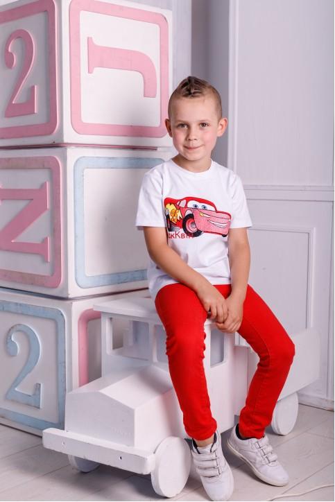 Дитяча футболка Casual Мак Квін (біла) – купити в Україні від Галичанка фото 1