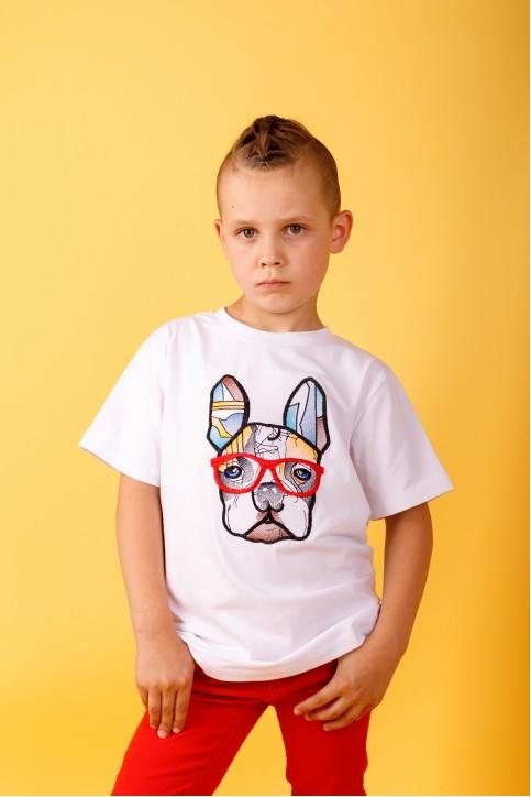 Дитяча футболка Casual Стиляга (біла) – купити в Україні від Галичанка фото 1