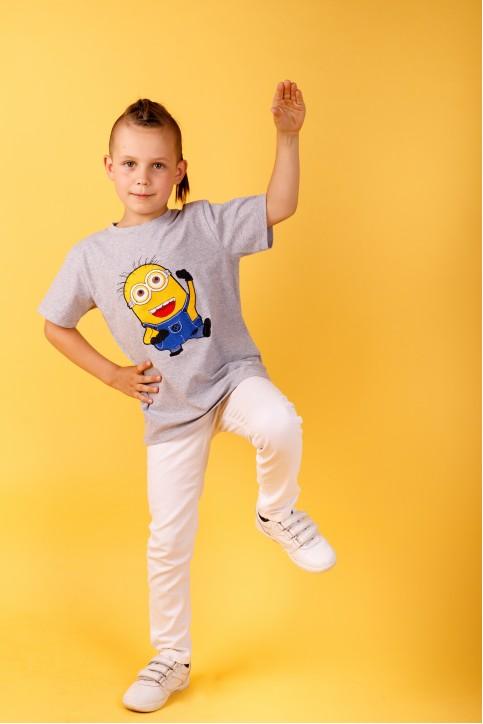 Дитяча футболка Casual Міньйон (сіра) – купити в Україні від Галичанка фото 1