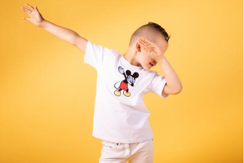 Купить футболку детскую Casual Микки (белая) в Украине от Галычанка фото 1