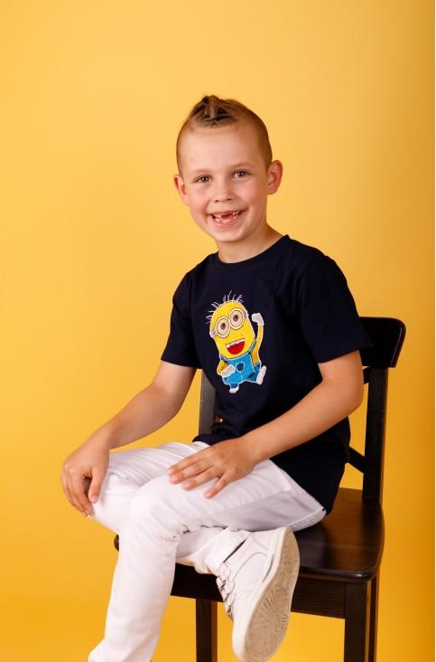 Дитяча футболка Casual Міньйон (темно синя) – купити в Україні від Галичанка фото 1