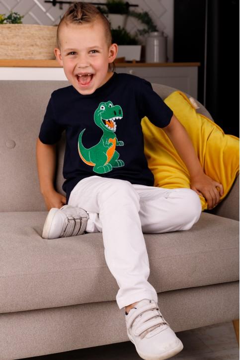 Дитяча футболка Casual  Динозаврик  (темно синя) – купити в Україні від Галичанка фото 1