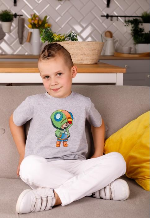 Дитяча футболка Casual Леон (сіра) – купити в Україні від Галичанка фото 1