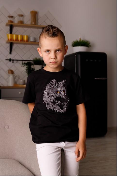 Дитяча футболка Casual Вовчик (чорна) – купити в Україні від Галичанка фото 1