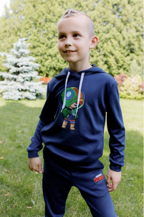 Дитяча футболка Casual Леон ( темно синій) – купити в Україні від Галичанка фото 1
