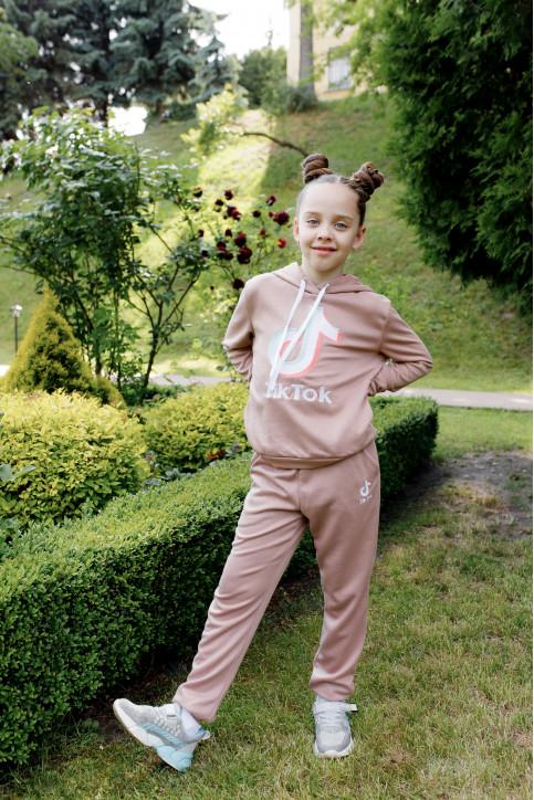 Дитяча футболка Casual Тік-ток ( бежевий) – купити в Україні від Галичанка фото 1