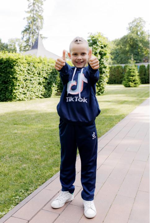 Дитяча футболка Casual Тік-Ток ( темно синій) – купити в Україні від Галичанка фото 1