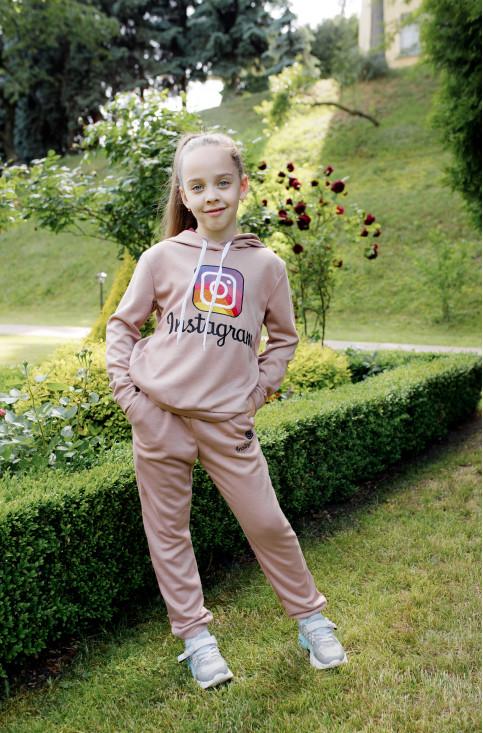 Дитяча футболка Casual  Інстаграм (бежевий) – купити в Україні від Галичанка фото 1