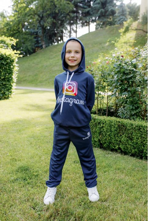 Дитяча футболка Casual Інстаграм ( темно синій) – купити в Україні від Галичанка фото 1