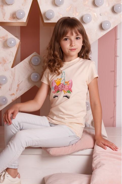 Дитяча футболка Casual Принцеса Поні (крем) – купити в Україні від Галичанка фото 1