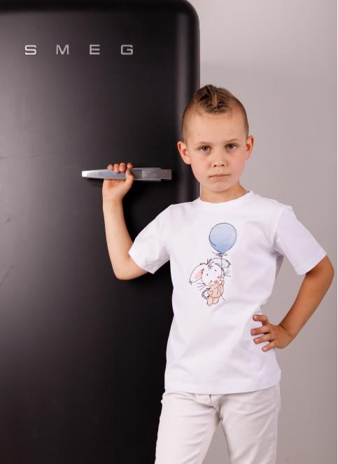 Дитяча футболка Casual Зайка (біла) – купити в Україні від Галичанка фото 1