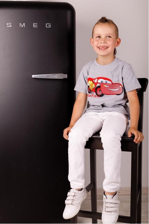 Дитяча футболка Casual Мак Квін (сіра) – купити в Україні від Галичанка фото 1