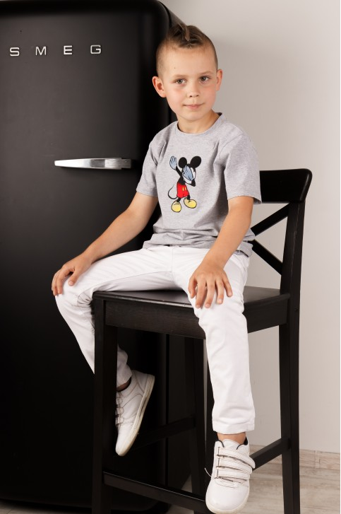 Дитяча футболка Casual Міккі (сіра) – купити в Україні від Галичанка фото 1