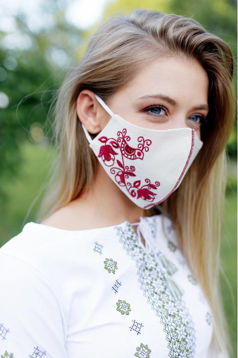 Купити захисну маску  Зозуля (молочна з вишневим) в Україні від виробника Галичанка фото 1