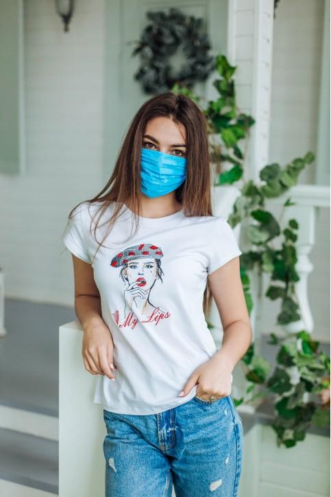 Купити захисну маску Захисна маска звичайна синя  в Україні від виробника Галичанка фото 1