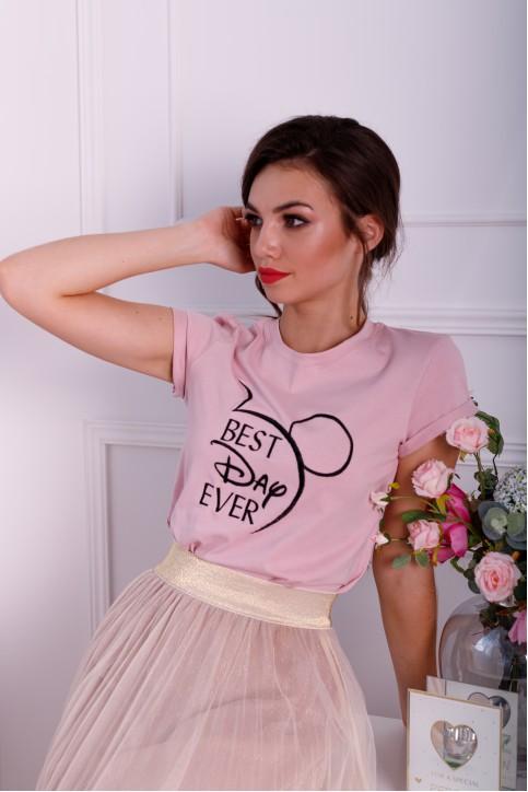 Купити жіночу футболку casual  Ever Day (пудра) в Україні від Галичанка фото 1